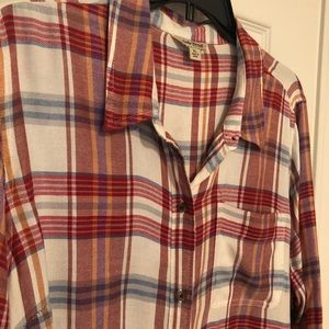 Lucky Brand plaid shirt. Excellent condition.